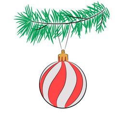 christmas tree ball vector image