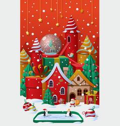 Christmas winter wonderland vector