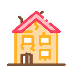 Collapse old house icon outline vector