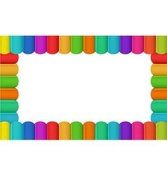 Colorful border design vector