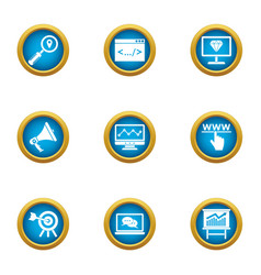 column icons set flat style vector image