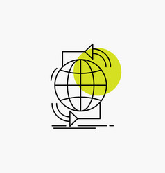 Connectivity global internet network web line icon vector