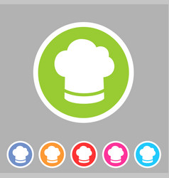 Cook chef hat cap icon flat web sign symbol logo vector