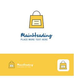 creative shopping bag logo design flat color logo vector image