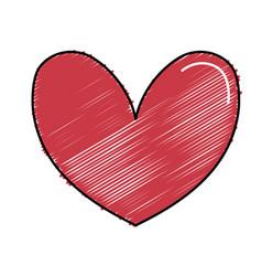 cute heart to love symbol design vector image