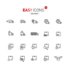 Easy icons 37a delivery vector