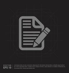 edit document icon - black creative background vector image
