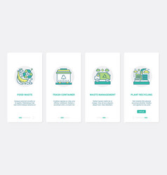environmental protection recycling plant ux ui vector image