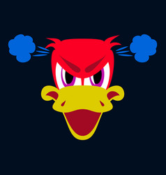 Flat icon on theme animal evil duck vector