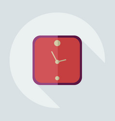 Flat modern design with shadow icons clock vector