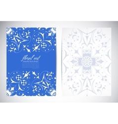 Floral elements ornate background vector