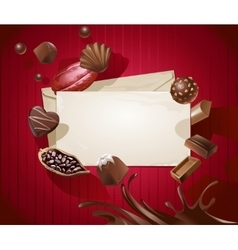 Frame for title with a pattern chocolates vector