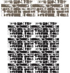 grunge brick wall seamless vector image