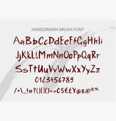 handwritten brush font hand drawn brush style vector image