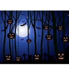 Horror Halloween Background vector image