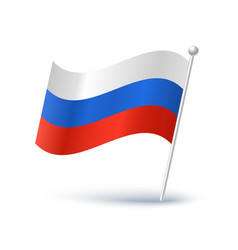 icon a russian flag vector image