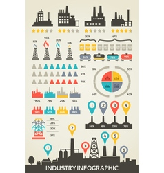 Info graphics industry vector image