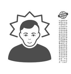 Inventor Icon With Bonus vector
