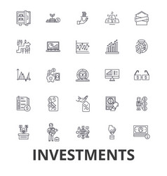 Investment finance money investor stock market vector
