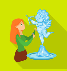 Isolated object sculpture and ice icon vector