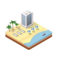 isometric seascape beach vector image