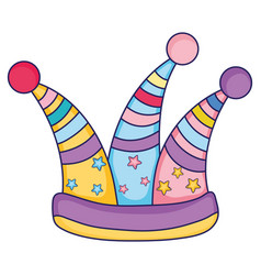 jester hat cartoon vector image