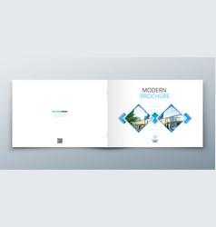 Landscape brochure design corporate business vector