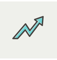 Lightning arrow upward thin line icon vector image