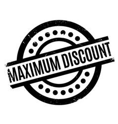Maximum discount rubber stamp vector