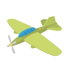 Military aircraft icon cartoon style vector