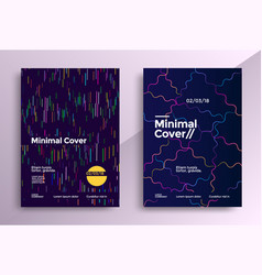 minimal covers design set vector image
