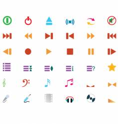 musical icons set vector image