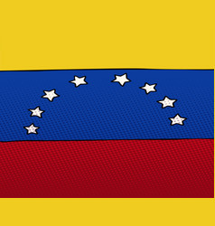 national flag of venezuela vector image