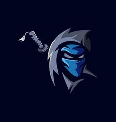 Ninja sport logo vector