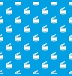 Open tin can pattern seamless blue vector