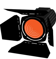 Orange spotlight vector