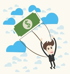 Parachuting Businessman vector
