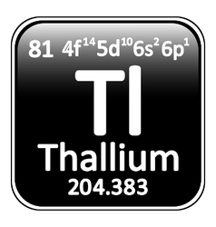 Periodic table element thallium icon vector