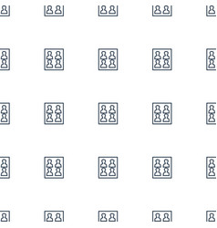 photo for passport icon pattern seamless white vector image