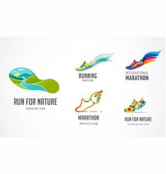 Run icon symbol running marathon poster and logo vector