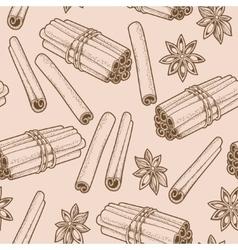 Seamless cinnamon vector