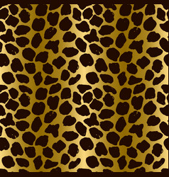 seamless leopard pattern animal skin grunge vector image