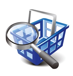 Search cart vector