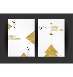 Set of Christmas greeting cards design - vector image
