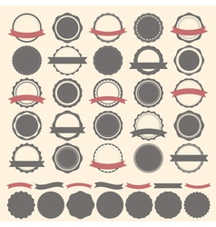 Set of vintage badges labels and logo template vector image
