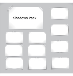 shadows pack vector image