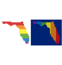 spectrum pixel dotted florida map vector image