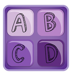 Square-shaped alphabet letters vector