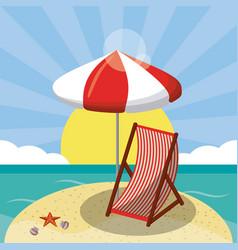 summer beach design in the seashore with beach vector image
