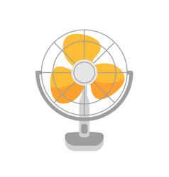 table fan wind blower air vector image